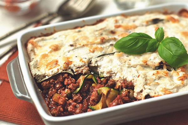 Courgette-Quorn-Mince-Lasagne